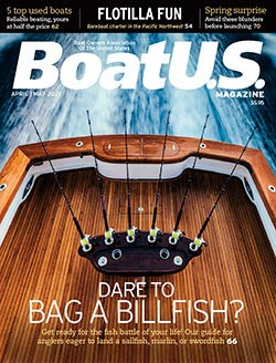 BoatUS Magazine April-May 2021 cover