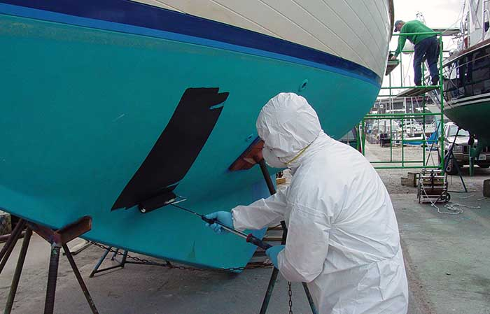 Boat bottom painting
