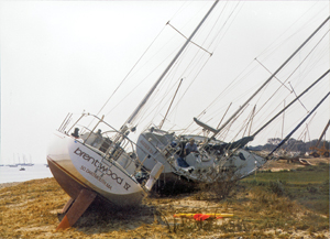 Toppled Boats