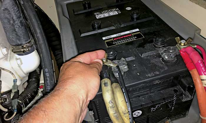Checking battery connections