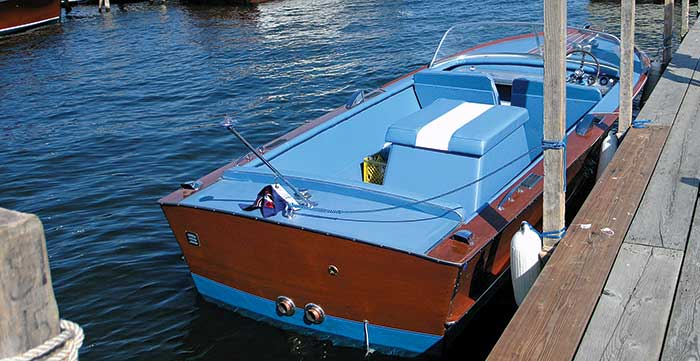1964 Chris Craft exterior after makeover