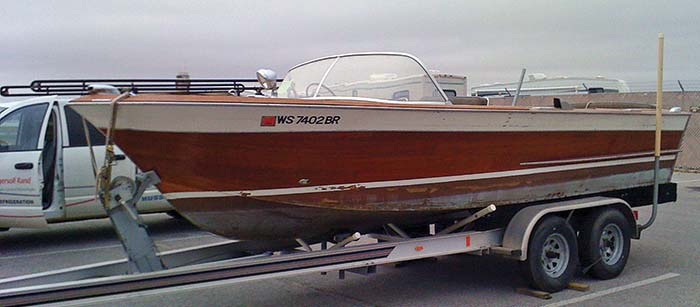 1964 Chris Craft exterior before makeover