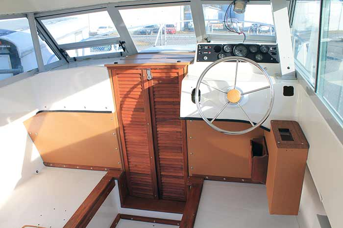 Agean 24 interior after makeover